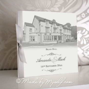 Briars Hall Pocketfold Wedding Invitation - Includes RSVP & Guest Information